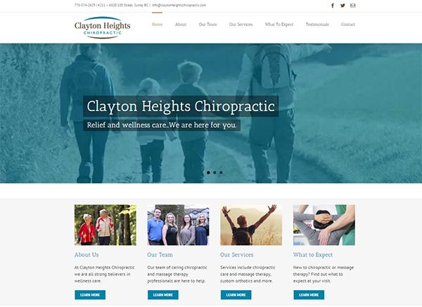 website brand design clayton heights