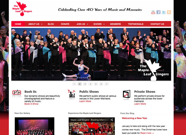 website design maple leaf singers