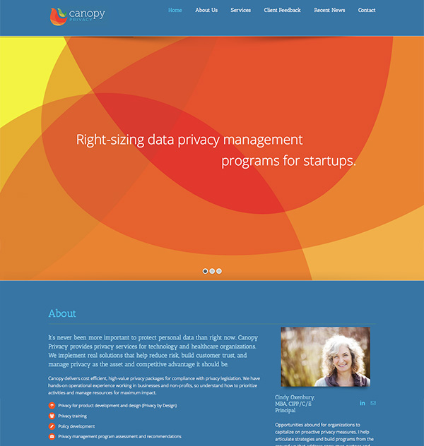 website design canopy privacy