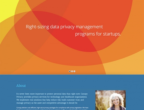 Canopy Privacy Website Design